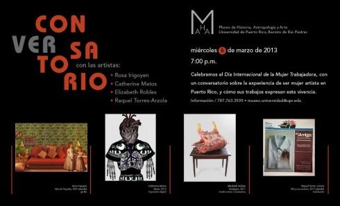 Conversatorio en el Museo de historia, arte y antropología de la Universidad de Puerto Rico
